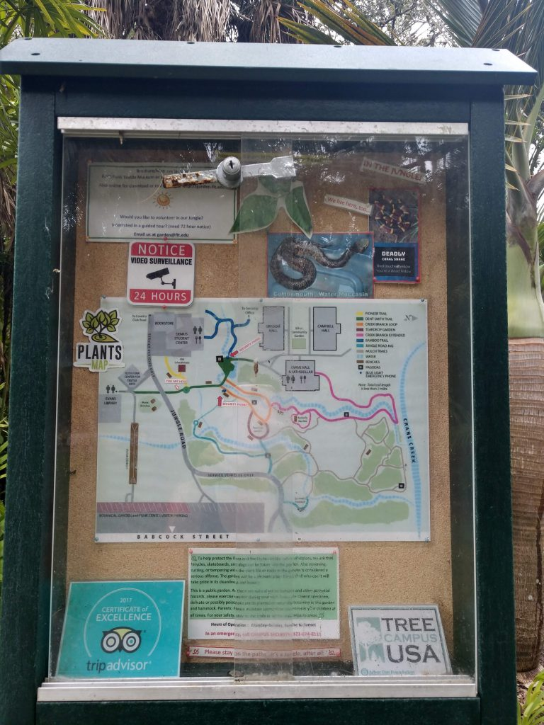 FIT Botanical Garden Map
